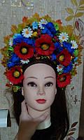 """Кокошник на голову """"Украинский Национальный 2"""", без лент"""