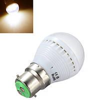 В22 2.5 W теплый белый свет SMD 5050 7 LED света Лампа 110-240В