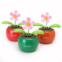 Флип лоскут свинг цветок на солнечных батареях автомобиль игрушки подарок