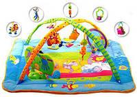 Развивающий коврик с дугами ЗООСАД для новорожденного (Kick Play Activity Gym)