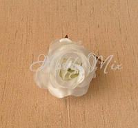 Головка розы мал. _ белый, фото 1