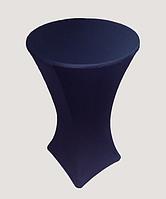 Стрейч чехол на стол 80/110 Черный из плотной ткани Спандекс