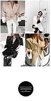Стильный женский пиджак пальто бежевый со вставками длинный брендовый