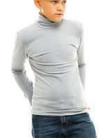 Гольф (водолазка) подростковый, на флисе, серый