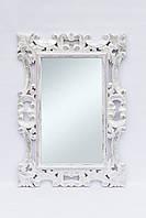 Зеркало Ajur 120х80 см, белое