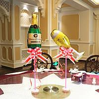 Настольная палочка - держатель для воздушного шара с основой Цветок.