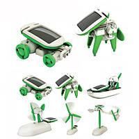 Новый 6 в 1 Образовательный набор солнечных игрушек Робот-Хамелеон Солнечные игрушки