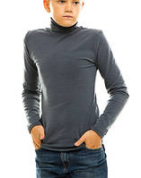 Гольф (водолазка) подростковый, на флисе, темно-серый