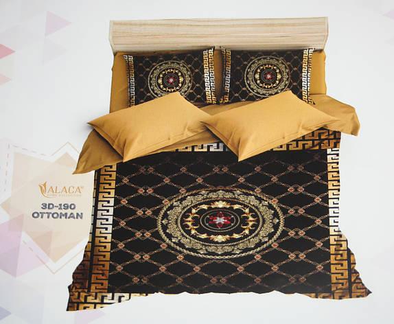 Постельное белье полуторное ALACA 3D Ottoman, фото 2