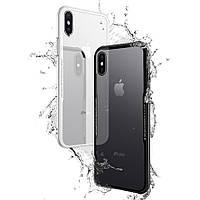 Bakeey™сзакаленнымстекломПрозрачная задняя рамка TPU Чехол для iPhoneX
