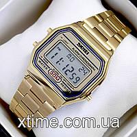 Мужские наручные часы Skmei 1123 Old School gold, золотого цвета