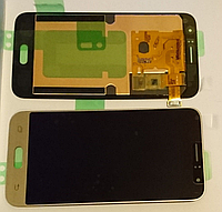 Дисплей (модуль) + тачскрин (сенсор) для Samsung Galaxy J1 2016 SM-J120 J120F J120H (золотой цвет)