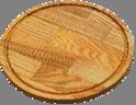 Доска разделочная круглая со сточным желобом 400х20мм дерево Украина ДП400