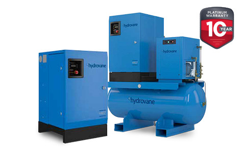 Hydrovane HV18, V18 роторно-пластинчатый компрессор 18 кВт; 8 бар - 2,88 м3/мин; 10 бар - 2,55 м3/мин