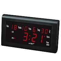 12/24 Часы Рабочий стол Часы Большой номер Lcd Дисплей Температура Дата Неделя Месяц Таблица Часы