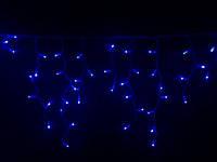 Уличная Гирлянда бахрома белый провод 3м*0,5м синяя