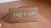 Часы электронные зеленые цифры. VST 862-4 Green clock 15 x 7 x 4