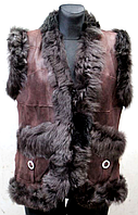 Жіноча натуральна жилетка Nebat (шкіра і шкурка)