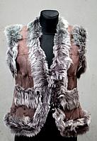 Жіноча натуральна безрукавка - бежевого окрасу