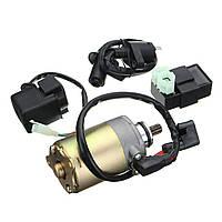 150cc Стартерный двигатель + Катушка зажигания + CDI + Электрическое реле Набор Hammerhead Twister для гольф-кары