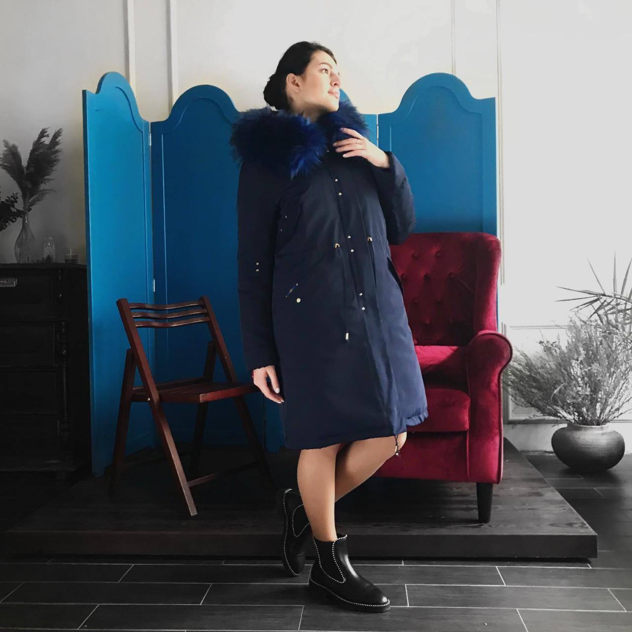 Женское пальто с плащевки Almatti  П-140-17