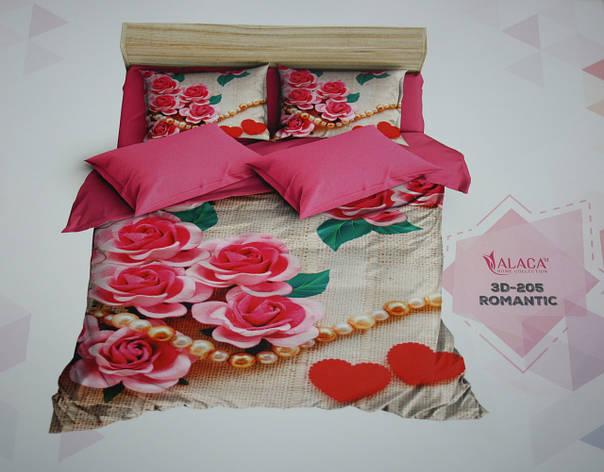 Постельное белье полуторное ALACA 3D Romantic, фото 2