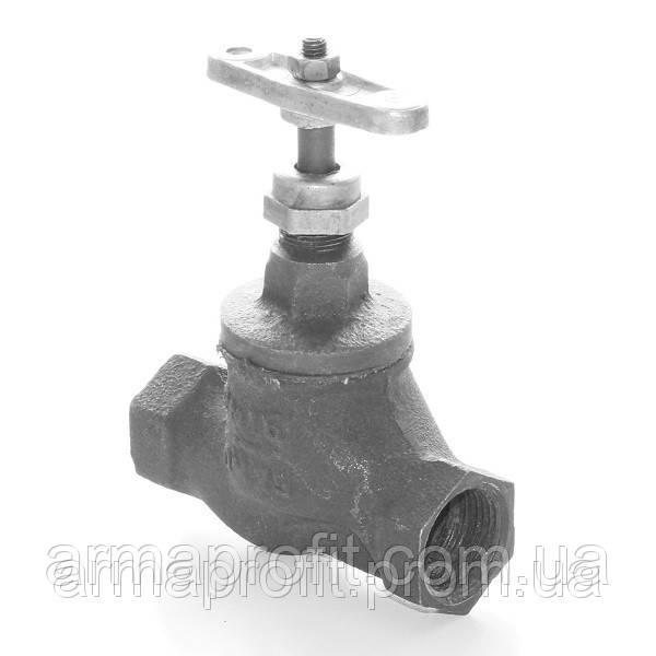 Клапан запорный чугунный 15кч18п муфтовый (Украина) Ду20 Ру16