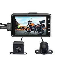 3inch LCD 720P+480P Dual Action камера Видеомагнитофон Водонепроницаемы Для велосипеда мотоцикл