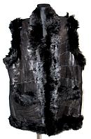 """Натуральний теплий жіночий жилет зі шкіри та овечої шерсті """"Nebat"""""""
