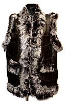 Тепла жилетка жіноча натуральна овчина і шкіри