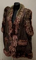 Тепла жилетка жіноча натуральна коричневого кольору