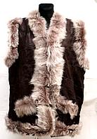 Жіноча натуральна жилетка з овечої вовни і шкіри Небат