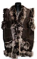 Натуральна жилетка з овечої вовни і шкіри (разныые кольору)