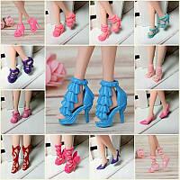 40 пар Различные туфли на высоком каблуке Ботинки Аксессуары для Барби Кукла