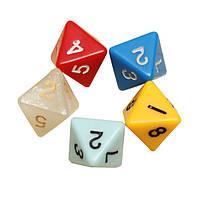 5шт / комплект число восьмигранный кости настольная игра в кости счетчик