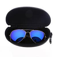 Молнии с глаз солнцезащитные очки в жестком футляре черный ящик