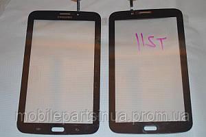 Оригинальный тачскрин сенсор (сенсорное стекло) Samsung Galaxy Tab 3 T211 P3200 P3210 (черный цвет самоклейка)