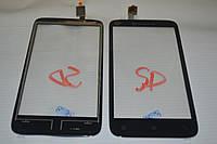 Оригинальный тачскрин / сенсор (сенсорное стекло) для Lenovo A398T (черный цвет) + СКОТЧ В ПОДАРОК