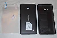 Задняя черная крышка для Microsoft Lumia 640 + ПЛЕНКА В ПОДАРОК