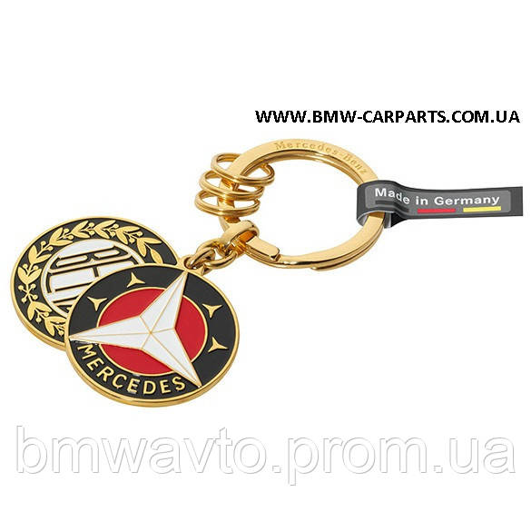 Брелок Mercedes-Benz Key Ring, Sindelfingen, Gold, Brass