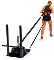 Сани тренировочные для кроссфита+петли QT1002A ECONOMY SLED