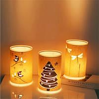 E27 Ручная резная теплая настольная лампа для пергамента LED Таблица Лампа для домашнего декора