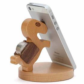 Lovely Wooden Лошадь Монета может Телефон Stand Holder для сотового телефона - 1TopShop