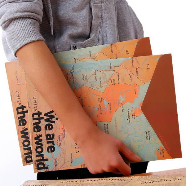 Канцелярские принадлежности Винтаж карта мира стиль мешок бумажный скоросшиватель - ➊TopShop ➠ Товары из Китая с бесплатной доставкой в Украину! в Днепре