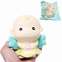 WOW Squishy Angel Baby 12cm Лицензированный Slow Rising 10s Оригинальная коллекция подарков Gift Decor Toy