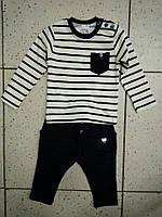 Детский костюм в полоску для мальчика 74