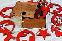 Набор ёлочных игрушек (красный)