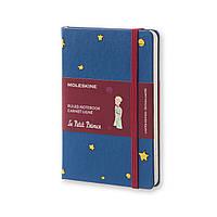 Блокнот Moleskine Limited Le Petit Prince Карманный 192 страницы Синий в Линейку в Тканевой обложке (9х14 см), фото 1