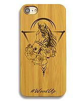 Деревянный чехол на Iphone 6 plus с лазерной гравировкой Horse