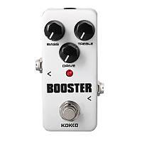 KOKKO FBS2 Мини-педаль Booster 2-полосная электрическая гитара эффектов EQ